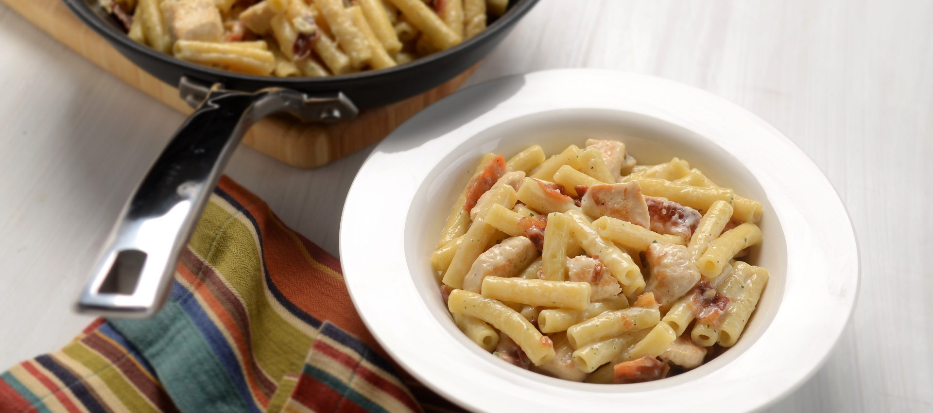 Bacon-Ranch-Chicken-Pasta-HR-1-1920x850 Bacon Ranch Chicken and Pasta Skillet