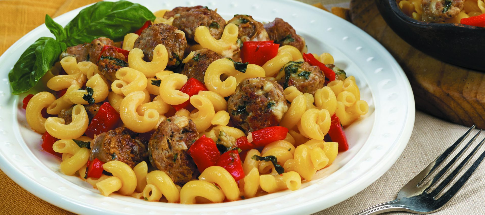 Basil-Sweet-Peppers-Italian-Sausage_4C-1920x850 Basil, Sweet Peppers & Italian Sausage with Elbows