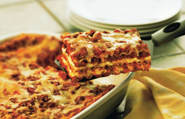 Classic-Sausage-Lasagna-596x384 Recipes