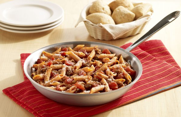 One-Skillet-Italian-Sausage-Pasta-596x384 Recipes