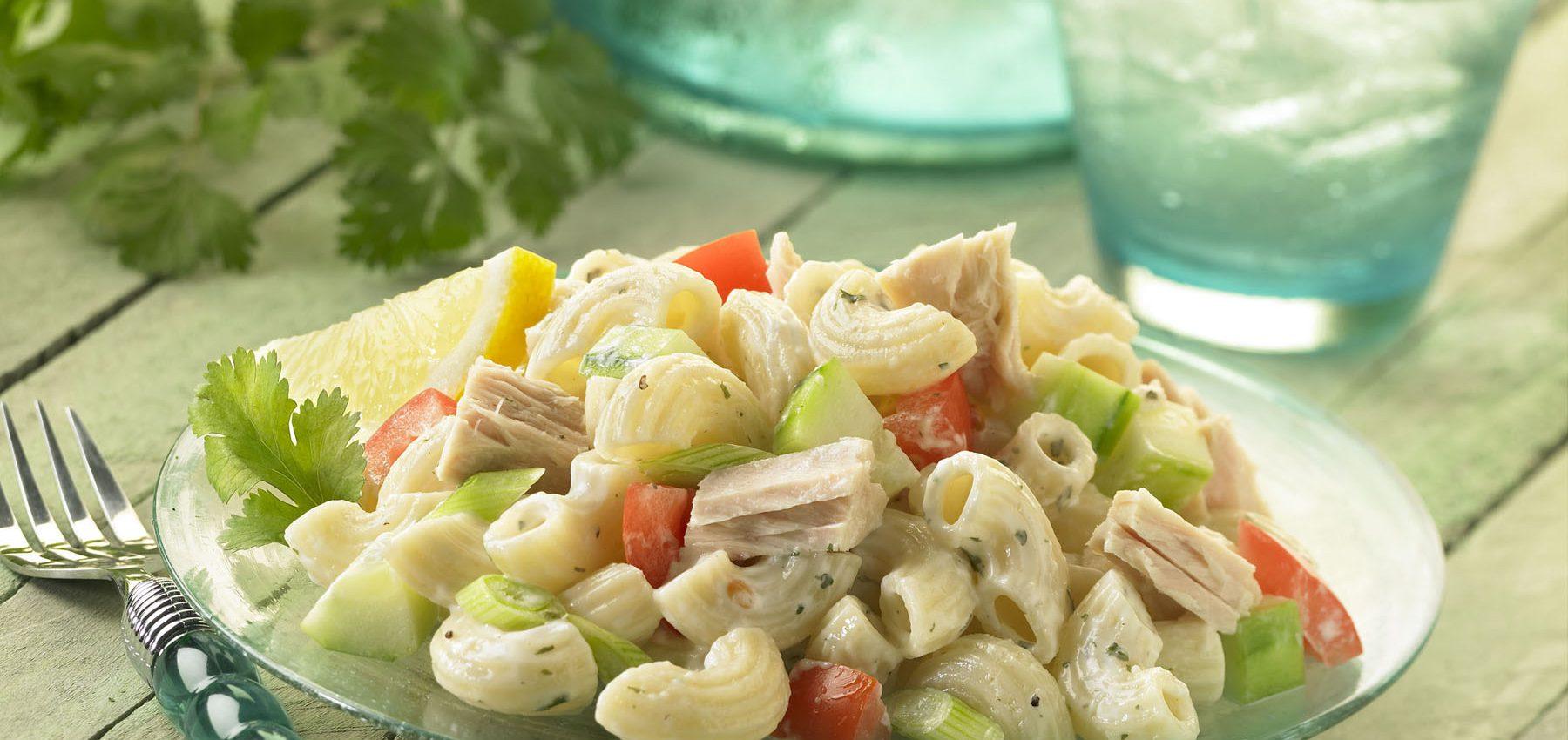 Ridged-Elbows-Gar-Tuna-Mac-Salad-1800x850 Market Vegetable Macaroni Salad with Tuna