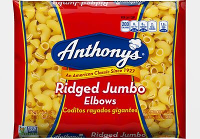 100-Ridged-Jumbo-400 100% Semolina Ridged Jumbo Elbows
